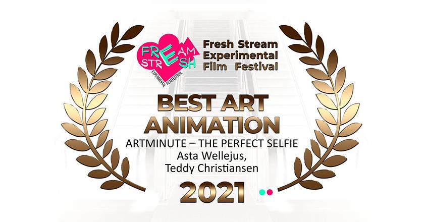 ArtMinute wins Best Art Animation in Fresh Stream Experimental Film Festival 2021